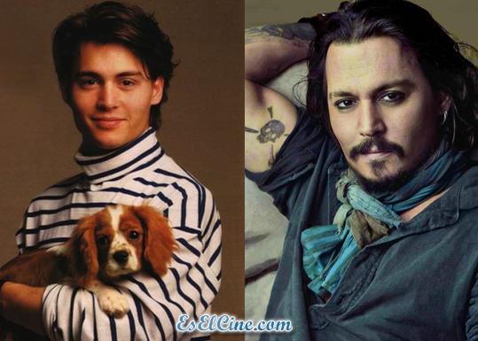 johnny depp antes y ahora