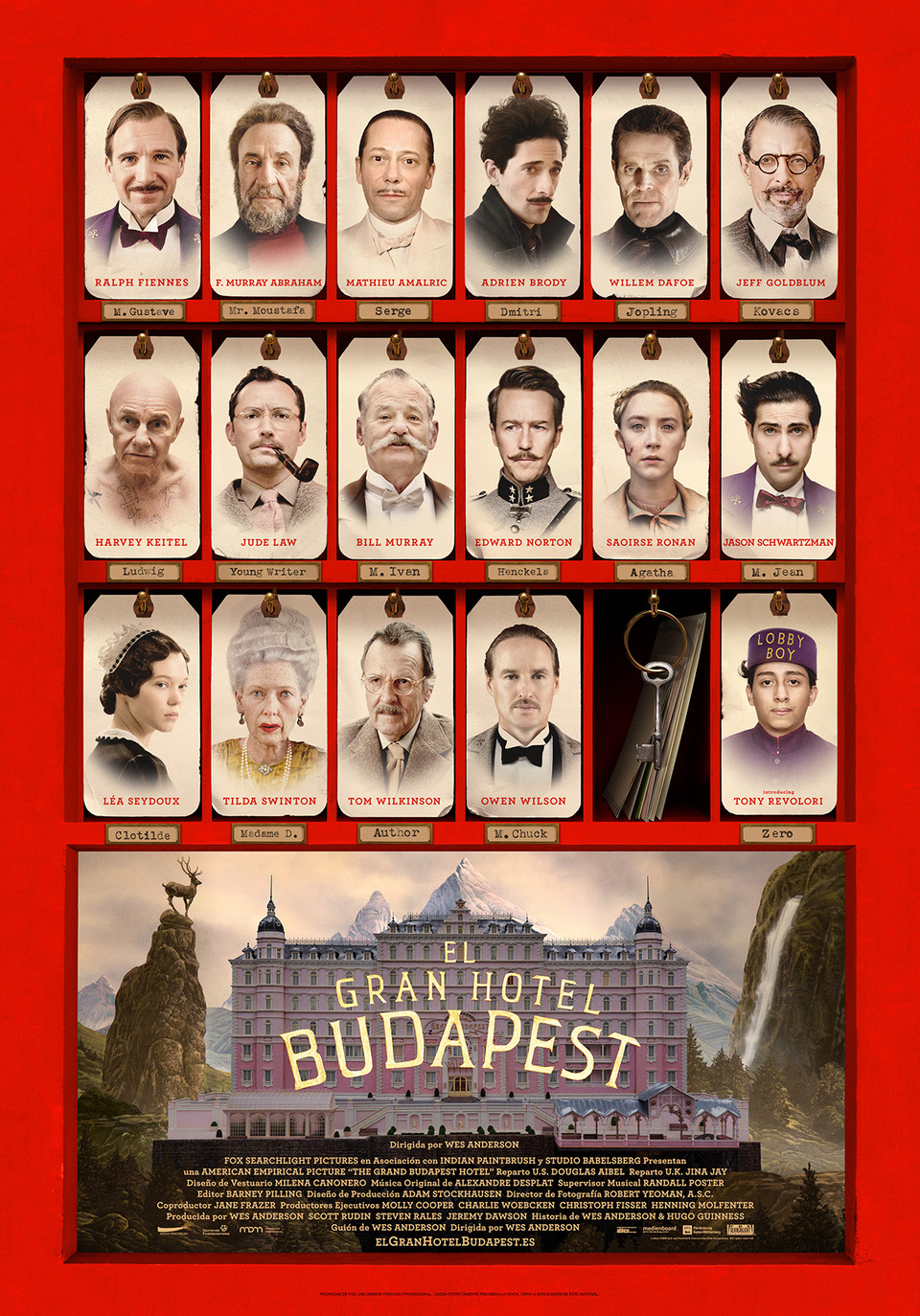 El Gran Hotel Budapest cartel