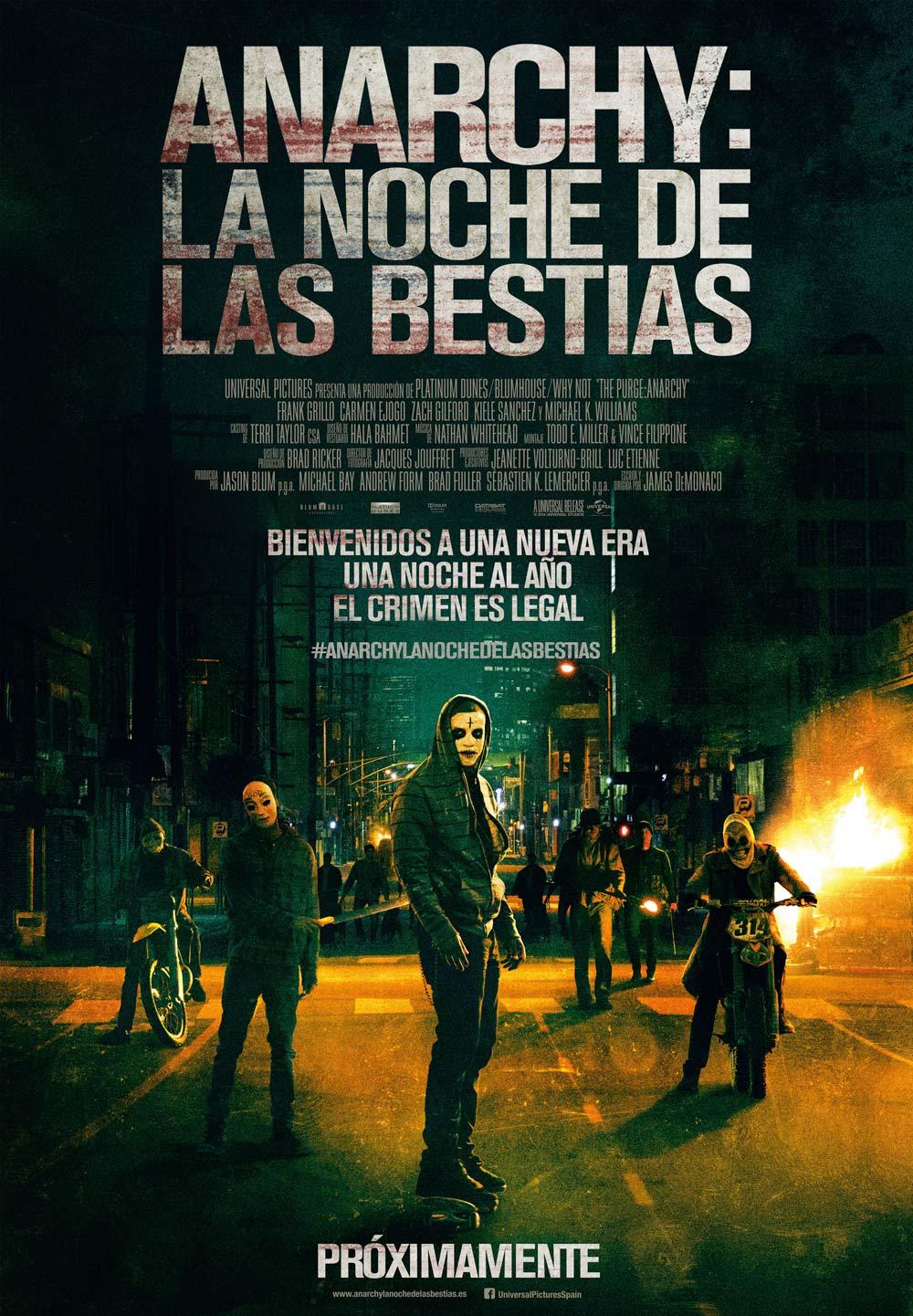 Anarchy La noche de las bestias Cartel