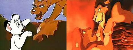 kimba y el rey león parecidos