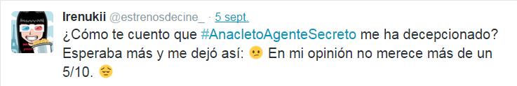 Anacleto agente secreto tweet