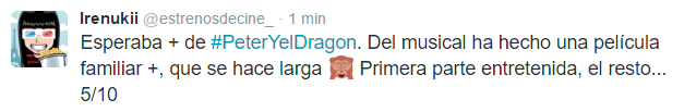 Peter y el dragon opinion
