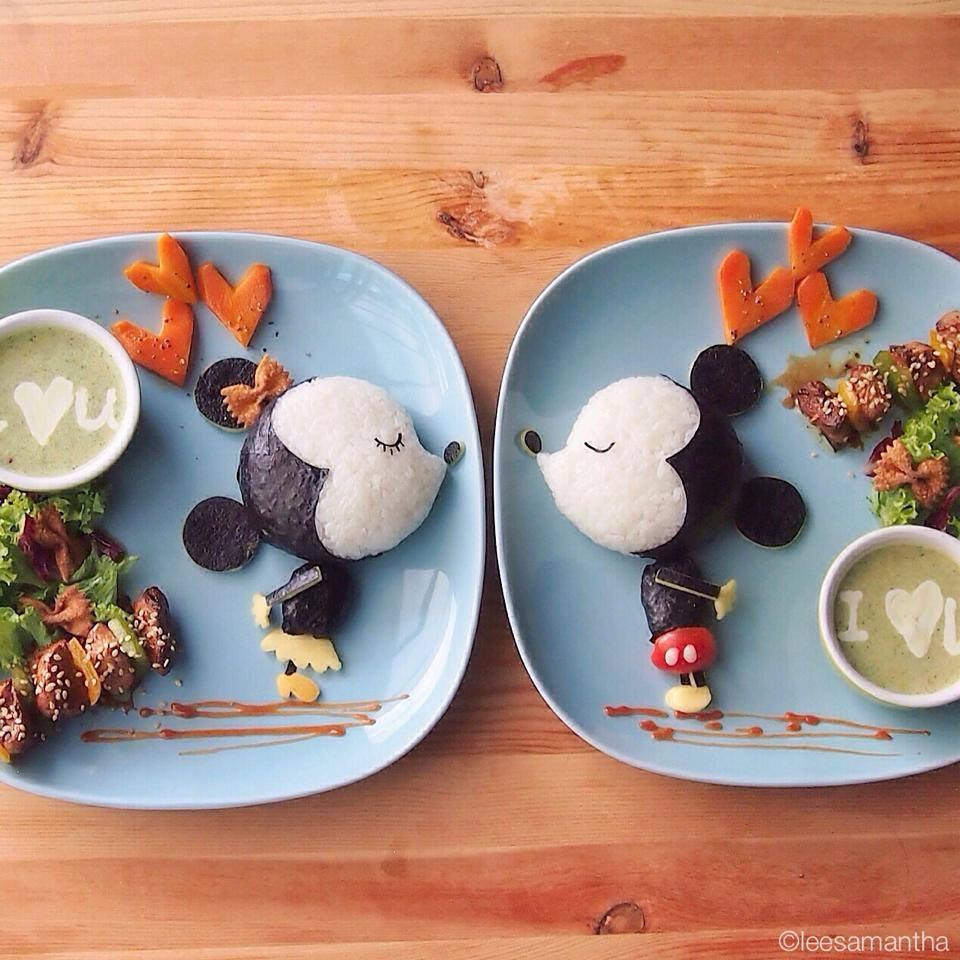 Mickey & Mini Mouse Food Art