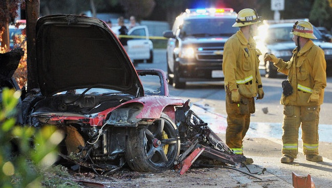 Accidente de Coche Paul Walker