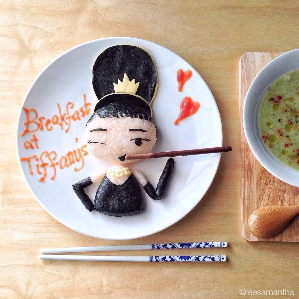 Audrey Hepburn Food Art