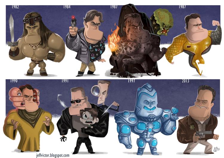 Arnold Schwarzenegger Evolución Cine