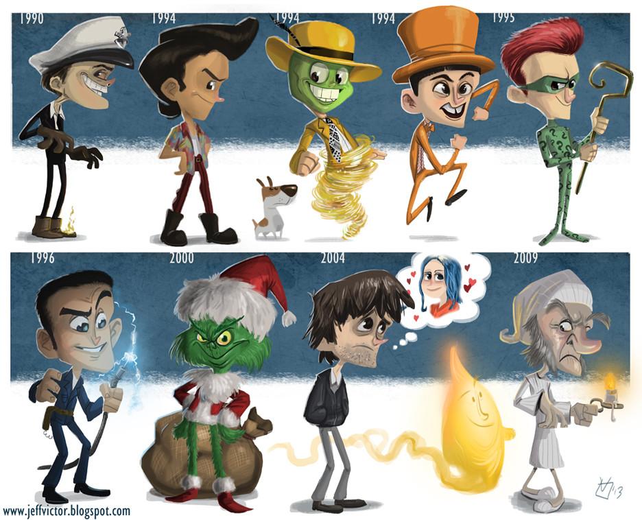 Jim Carrey Evolución cine
