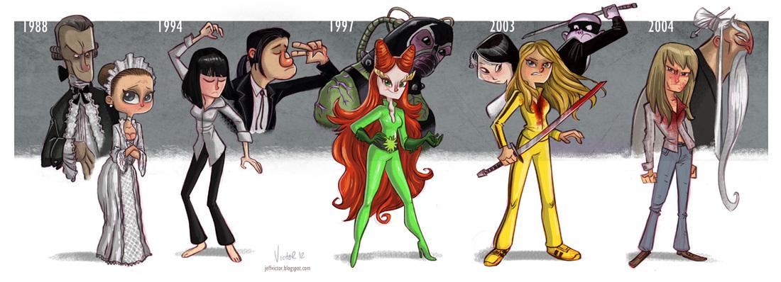 Uma Thurman Evolución Cine