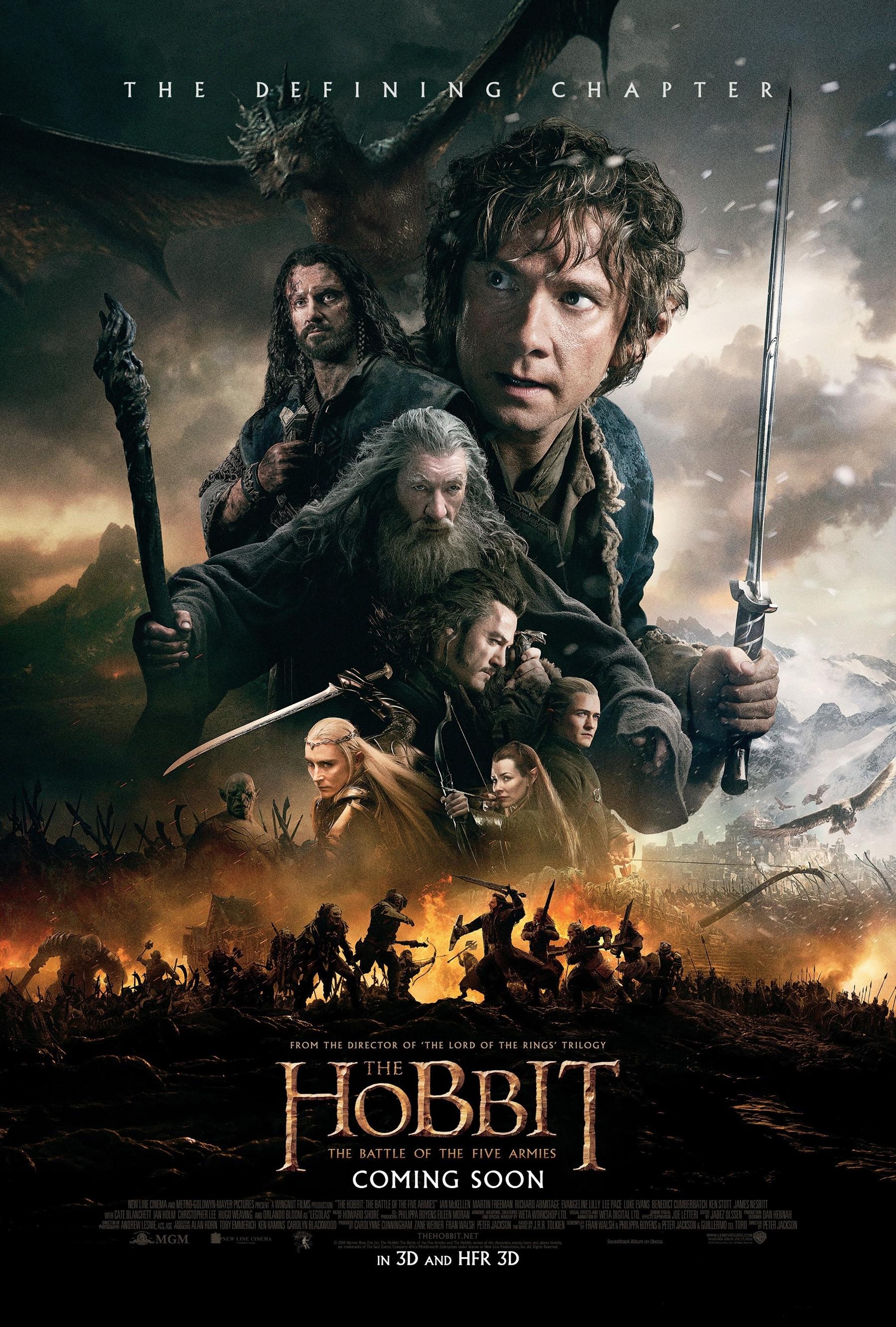 El Hobbit La batalla de los cinco ejércitos Cartel