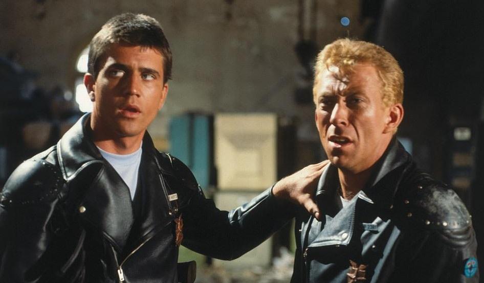 Mad Max 1979 Mel Gibson y Steve Bisley