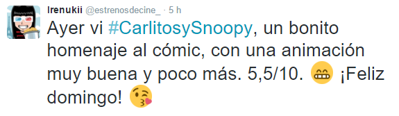 Carlitos y Snoopy opinion