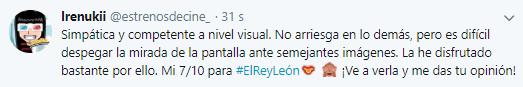 El Rey Leon 2019 Opinion